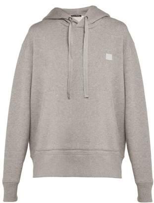Acne Studios Ferris Face Cotton Jersey Sweater - Womens - Grey