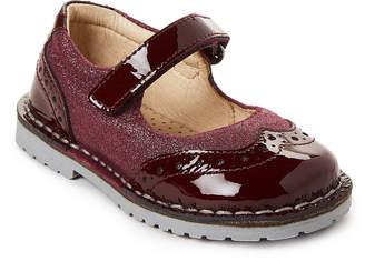 Naturino Toddler Girls) Burgundy Wingtip Glitter Vern Ballerina Shoes