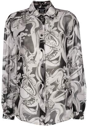 Moschino printed button blouse