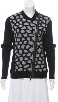 Diane von Furstenberg Harper Wool Zip-Up Jacket