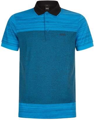 BOSS GREEN Paul Stripe Print Polo Shirt