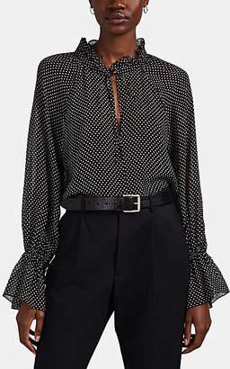 Nili Lotan Women's Royan Polka Dot Silk Blouse - Black