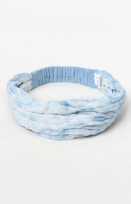 La Hearts Blue Tie Dye Turban