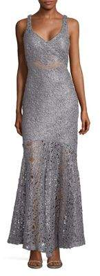 Jump Metallic Lace Gown