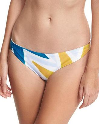 Mara Hoffman Geo-Print Classic Hipster Swim Bottom, Multicolor $110 thestylecure.com