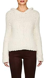 The Row Women's Dreamy Cashmere Hoodie - Off White