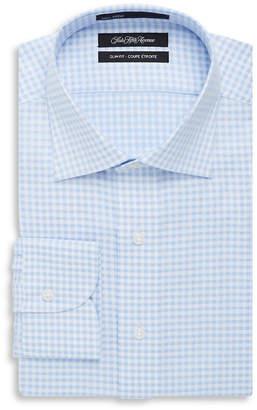Saks Fifth Avenue Patterned Slim-Fit Dress Shirt
