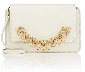 Chloé Women's Drew Bijoux Leather Clutch - White