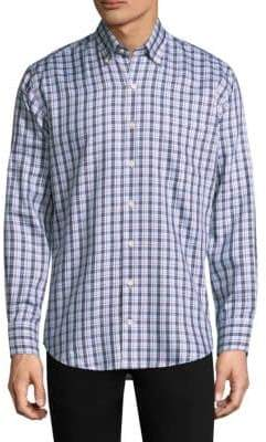 Peter Millar Checkered Button-Down Shirt