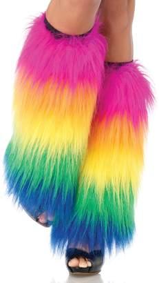 Leg Avenue Women's Furry Rainbow Leg Warmers