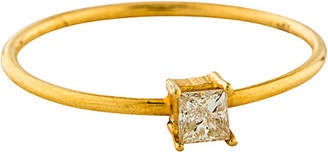 Downtown Diamonds Adornia 18K 0.20 Ct. Tw. Diamond Square Cut Solitaire Ring