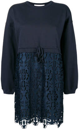 See by Chloe embroidered sweatdress