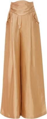 Rosie Assoulin Rope a Dope Wide Leg Linen Blend Pants
