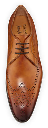 Magnanni Men's Antiqued Leather Wingtip Oxfords
