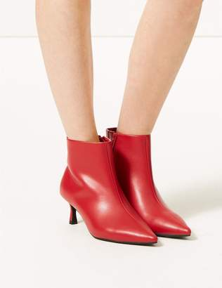 Marks and Spencer Wide Fit Kitten Heel Ankle Boots