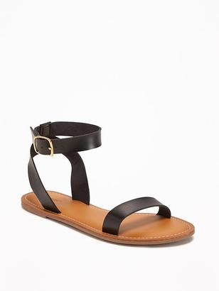 Faux-Leather Ankle-Strap Sandals for Women $24.94 thestylecure.com