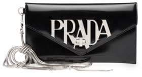 Prada Spazzolato Leather Wristlet