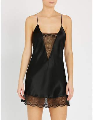 Calvin Klein Black silk-satin chemise