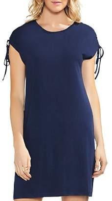Vince Camuto Lace-Up-Shoulder T-Shirt Dress