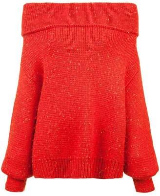 Diane von Furstenberg off-shoulder chunky knit jumper