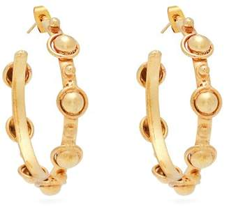 Sylvia Toledano - Petite Candies Stud Embellished Hoop Earrings - Womens - Gold