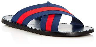 Bloomingdale's The Men's Store at Striped Slide Sandals - 100% Exclusive