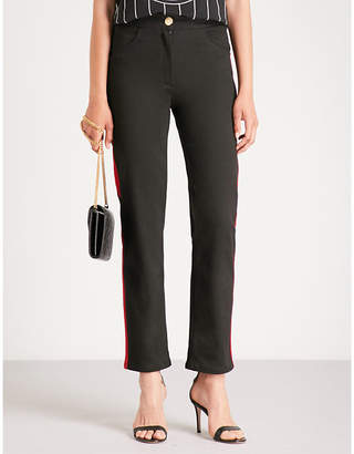 Balmain Side-stripe straight jeans