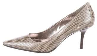 Calvin Klein Embossed Leather Pumps
