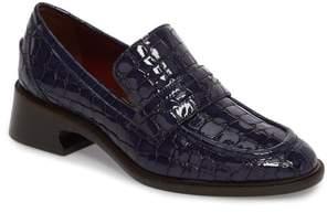 Sies Marjan Croc Embossed Loafer