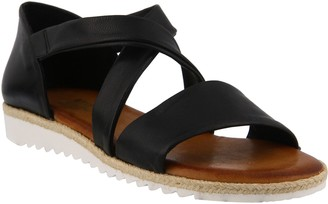 Spring Step Leather Ankle Strap Sandals - Maridora