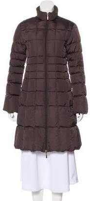 Moncler Down Knee-Length Coat