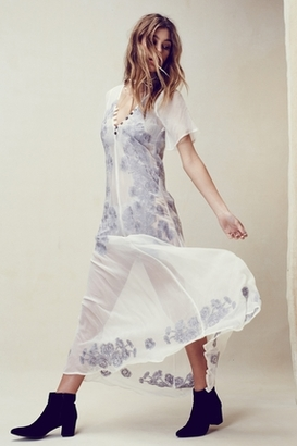 For Love & Lemons Sicily Maxi Dress in Ivory $273 thestylecure.com