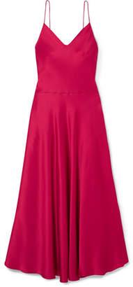 Stella McCartney Satin-crepe Midi Dress - Pink