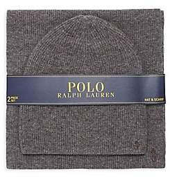 Polo Ralph Lauren Men's Cashmere Blend Hat& Scarf Set