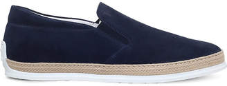 Tod's Tods Raffia suede skate shoes