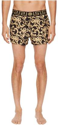 Versace Barocco Net Short Trunk Men's Swimwear