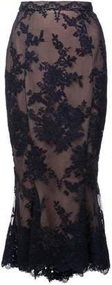 Marchesa lace fishtail pencil skirt