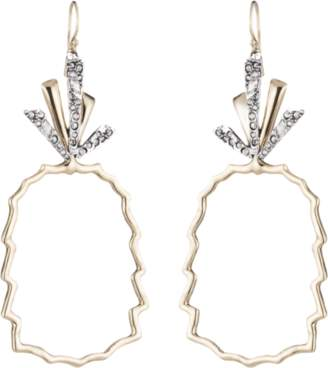 Alexis Bittar Crystal-Leaf Pineapple Wire Earrings