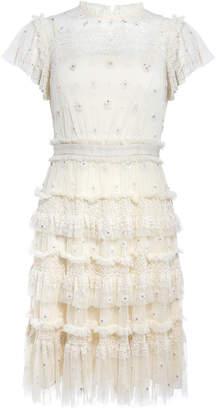 56c0607f09 Needle   Thread Andromeda Tiered Ruffle Mini Dress