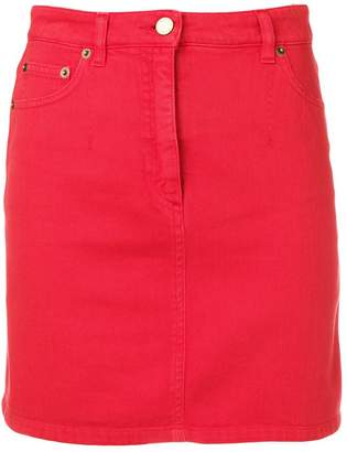 4db5133014ea4 Red Denim Mini Skirt - ShopStyle UK