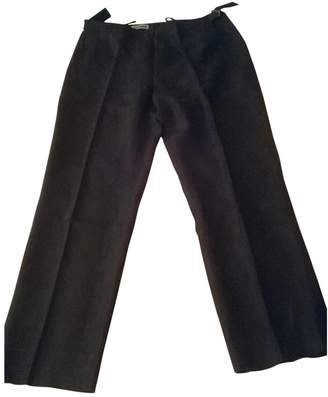 Les Chiffoniers Black Cotton Trousers for Women