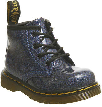 d0968759a481 Dr. Martens Brooklee Kids Lace up Boots Blue Coated Glitter