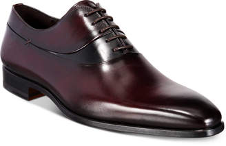 Massimo Emporio Men's Two-Tone Leather Oxfords