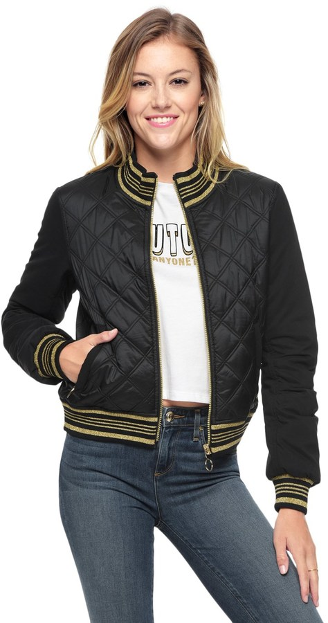Juicy CoutureQuilted Nylon Reversible Puffer Jacket