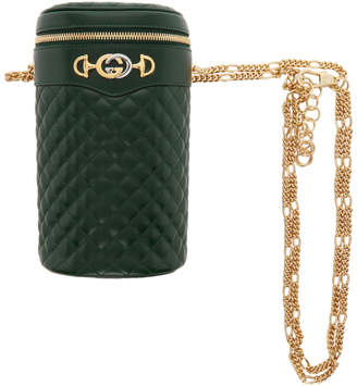 Gucci Green Quilted Leather Belt Bag