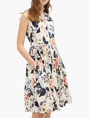 af6eeceba14 French Connection Acaena Sleeveless Floral Dress, Cream/Multi