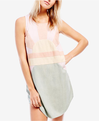 Free People Sundown Silk Shift Dress $148 thestylecure.com