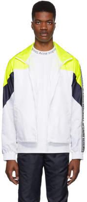 Opening Ceremony White and Yellow Nylon Warm Up Jacket