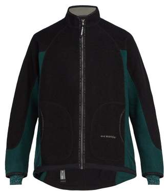 And Wander - Air Two Tone Wool Blend Fleece Jacket - Mens - Black