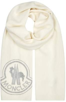 Moncler Logo-appliqued Wool-blend Scarf